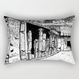 Herculaneum Courtyard Rectangular Pillow