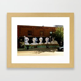 Wall of Faces  Framed Art Print