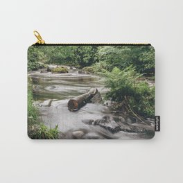 Driftwood in flowing river near Ullswater. Cumbria, UK. Carry-All Pouch