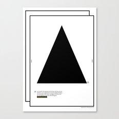 Geometric  - Dreieck . (Spanish) Canvas Print