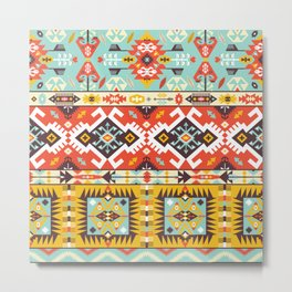 Modern Native American Pattern 4 Metal Print