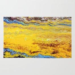 African landscape, acrylic on canvas Rug