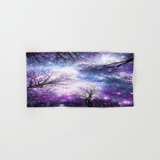 Black Trees Violet Purple Blue Space Hand & Bath Towel