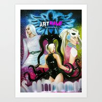 artrave Art Prints featuring ARTRAVE by CARLOSGZZ