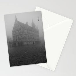 Dutch cheese-town in the mist Stationery Cards
