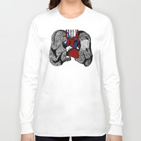 lungs Long Sleeve T-shirts featuring Heart&Lungs by Emma J. Hardy