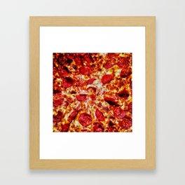 Pizza Painting Framed Art Print