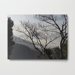 Trees and Mountains - Sindhuli, Nepal Metal Print