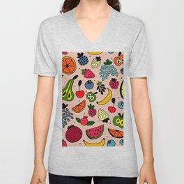 Fruity pattern Unisex V-Neck