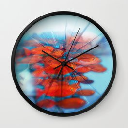 inside my head red fis Wall Clock
