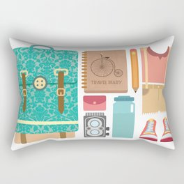 Pack Your bag and Go Everywhere Rectangular Pillow