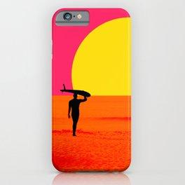 Malibu Surfer iPhone Case
