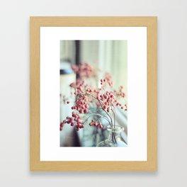 Rose Hips in a Window Still Life Autumn Botanical Framed Art Print