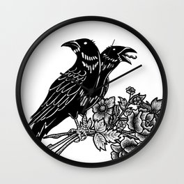 The Ravens Wall Clock