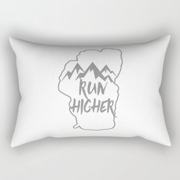 Run Higher LT White Rectangular Pillow