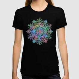 Nature Mandala in Rainbow Hues T-shirt