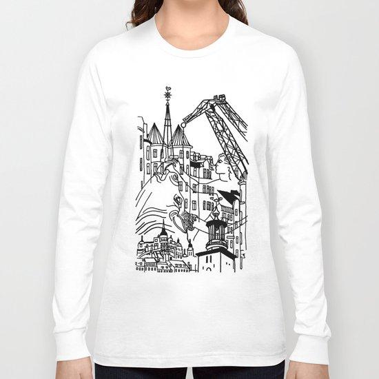 Three City Silhouettes Long Sleeve T-shirt