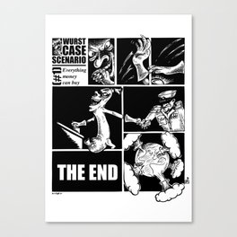 #1 - Everything money can buy Canvas Print