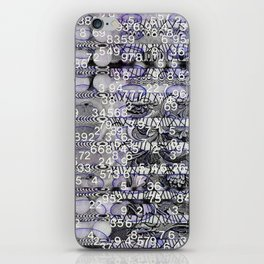 Post-Digital Tendencies Emerge (P/D3 Glitch Collage Studies) iPhone Skin
