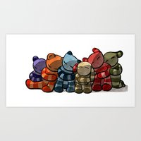 cuddle Art Prints featuring Cuddle by Friederike Ablang