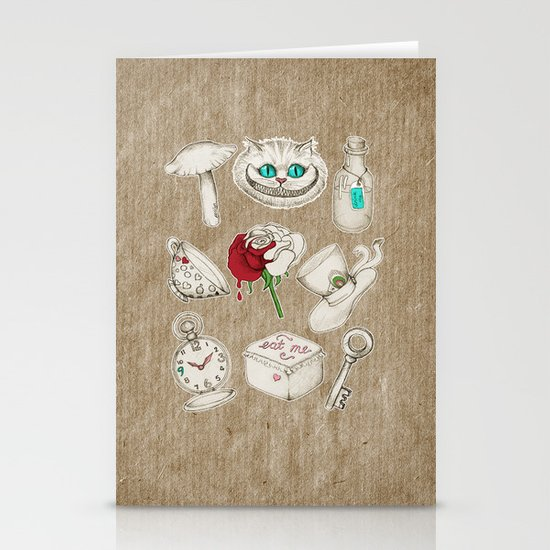 Things you'll find in Wonderland Stationery Cards