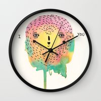 sloth Wall Clocks featuring sloth by Alba Blázquez