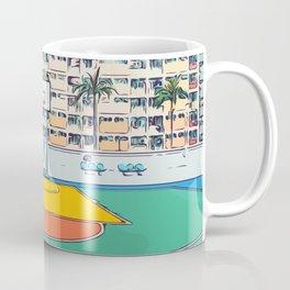 Ball is life - Baseball court Palmtrees Coffee Mug