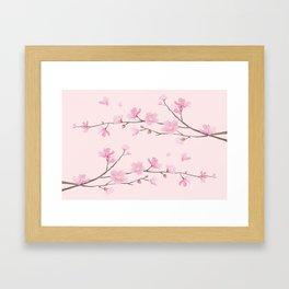 Cherry Blossom - Pink Framed Art Print