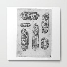 Arrangement of Crystals Metal Print
