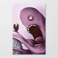 kraken Canvas Prints featuring Kraken by Jacques Marcotte