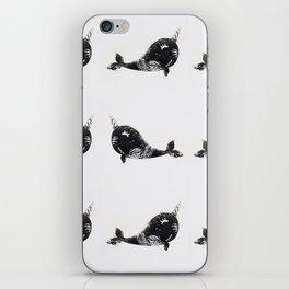 Cute happy narwhals iPhone Skin