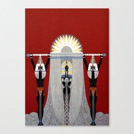 """The Egyptian"" Art Deco Illustration Canvas Print"