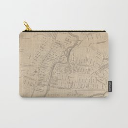 Vintage Map of Hartford CT  in 1640 (1890) Carry-All Pouch