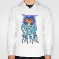 cthulu Hoodies featuring the owl of cthulu by ronnie mcneil