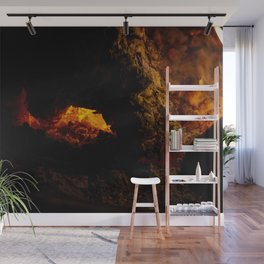 Fire Pit Wall Mural
