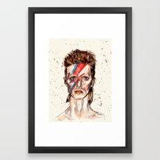 Bowie Inspired David Framed Art Print