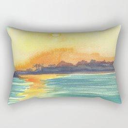 Cresent Bay Sunset Rectangular Pillow