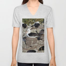Albatross Colony Unisex V-Neck