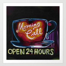 Morning Call Neon Art Print