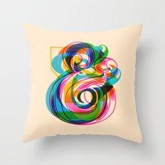 Champersands Throw Pillow