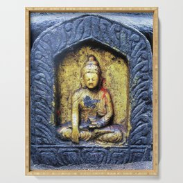 Gilded Buddha Serving Tray