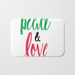 - peace & love - Bath Mat