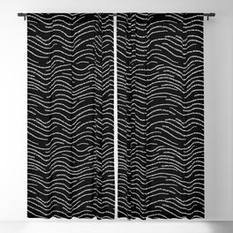 Black and White Wave Blackout Curtain