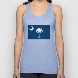 Flag of South Carolina - Authentic High Quality Image Unisex Tank Top