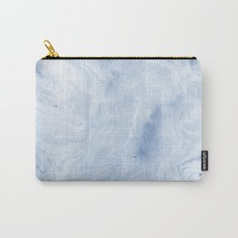Yasuko - spilled ink japanese monoprint marble paper cell phone case with marble pattern blue pastel Carry-All Pouch