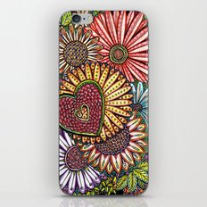 I Love Flowers iPhone & iPod Skin