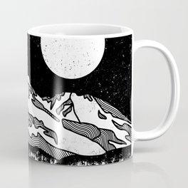 Mount Shasta Black and White Coffee Mug