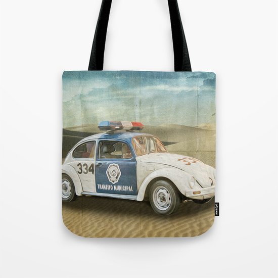 Dune Buggy Fuzz Tote Bag