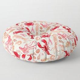 Crustaceans sea life illustration by Andrea Lauren Floor Pillow