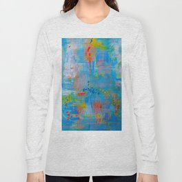 Colorful Abstract Wall Art, Vibrant colors, Contemporary home decor Long Sleeve T-shirt